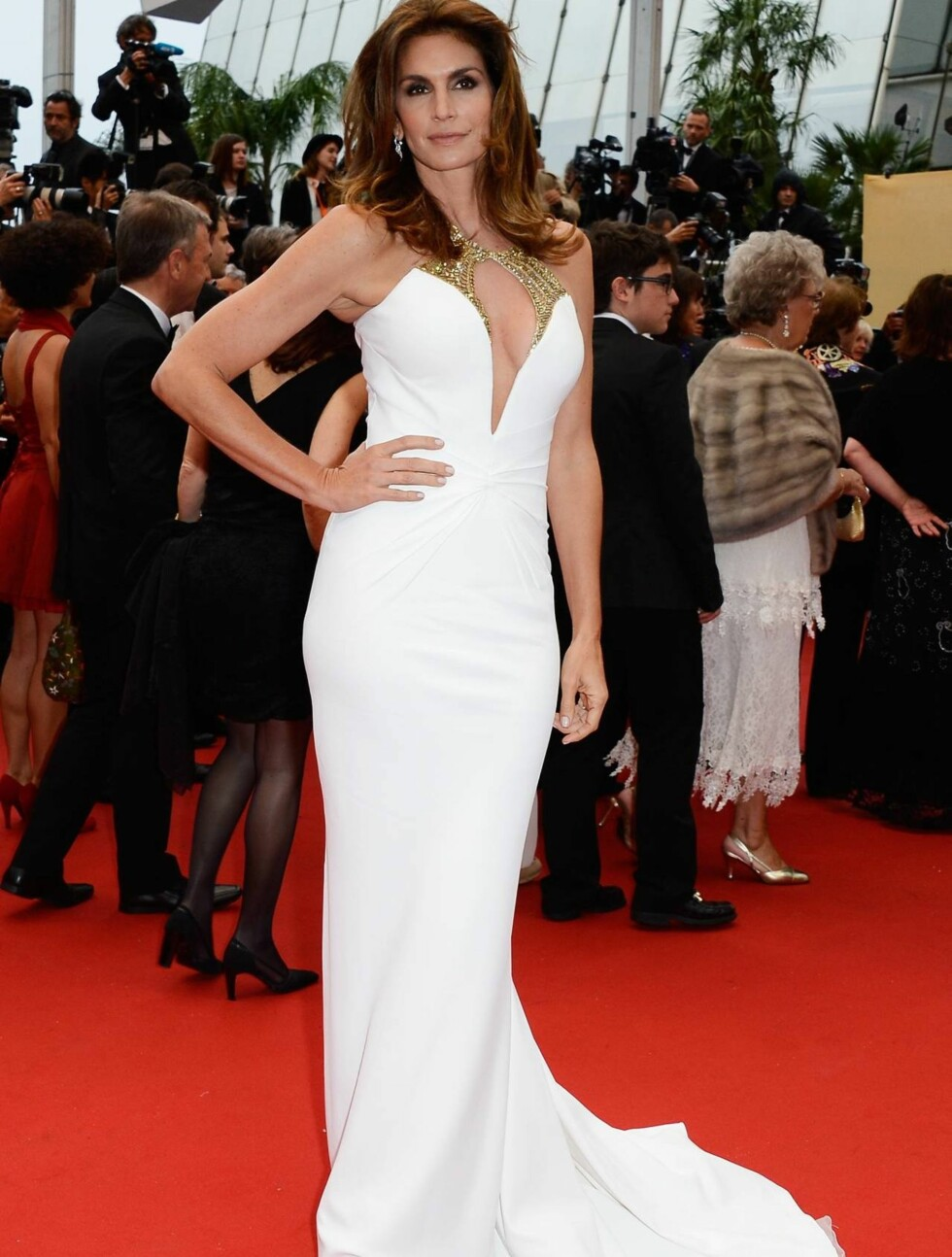 CANNES: Cindy Crawford. Foto: All Over Press