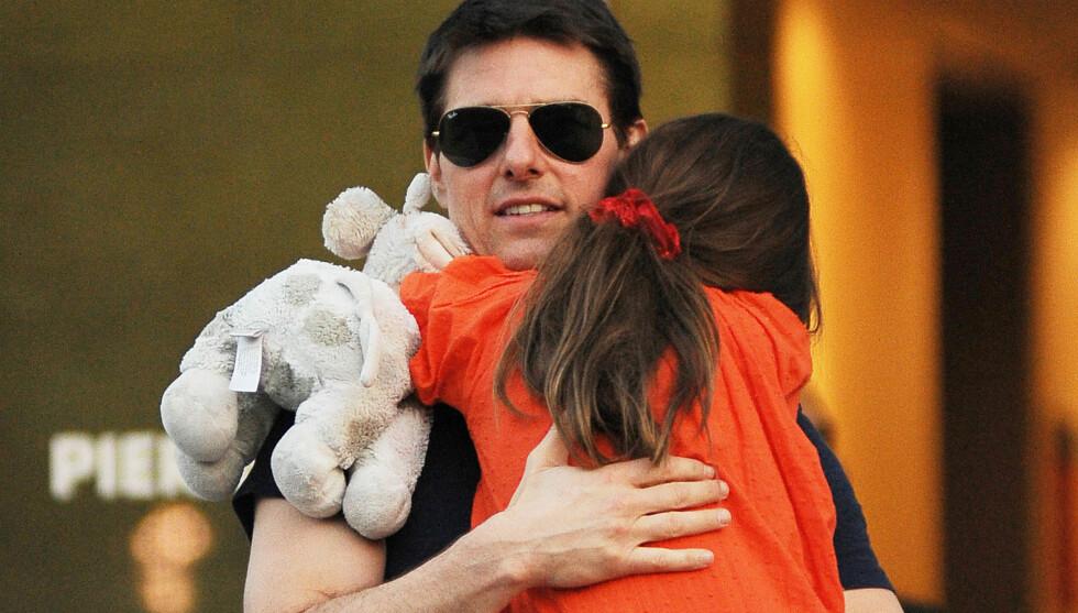 HAR PLANLAGT BURSDAG I LANG TID: Tom Cruise sa i et radiointervju onsdag at han har brukt lang tid på på planlegge dagens feiring av 7-års dagen til datteren Suri. Foto: All Over Press