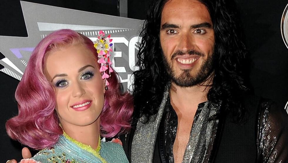 EKSKJÆRESTER: Katy og Russell var gift i 14 måneder og gjordet det slutt i 2011. Foto: All Over Press