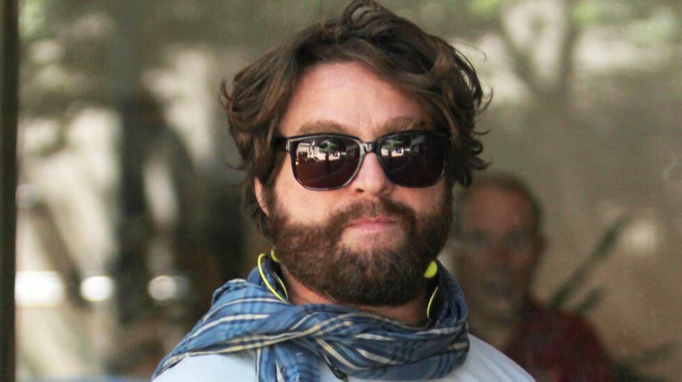 GÅTT NED I VEKT: Skuespiller Zach Galifianakis har gått ned mange kilo etter han giftet seg med Quinn Lundeberg i 2012. Foto: Stella Pictures