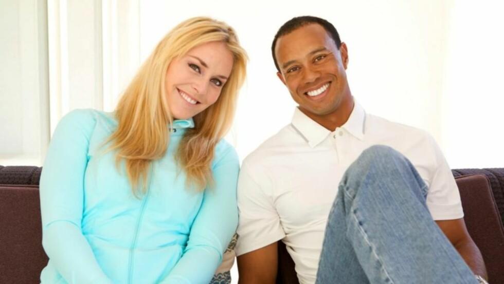 LO AV SKANDALEN: I 2009 ble Tiger Woods mange affærer avslørt, og hans nåværende kjæreste Lindsey Vonn gjorde også narr av golferen.  Foto: Tiger Woods/Facebook