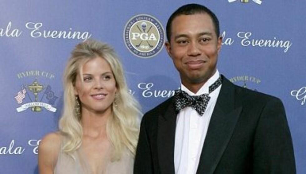 FRA LYKKELIGE TIDER: Tiger Woods giftet seg med Elin Nordegren i 2004. Seks år senere tok forholdet slutt da en rekke kvinner sto frem som Woods elskerinner. Foto: Getty Images