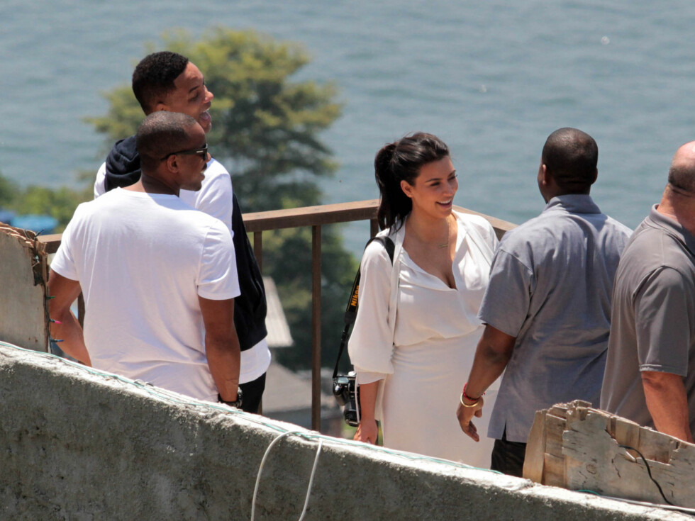 TRIO I RIO: Will Smith, Kanye West og Kim Kardashian. Foto: Stella Pictures