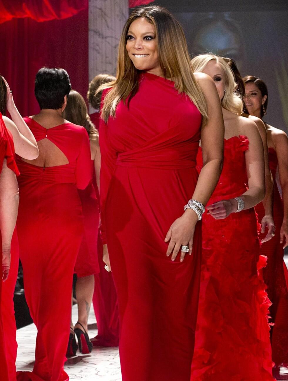 HELE GJENGEN: TV-personlighet Wendy Williams gikk ned catwalken i en kjole fra Kamali Kulture.  Foto: All Over Press