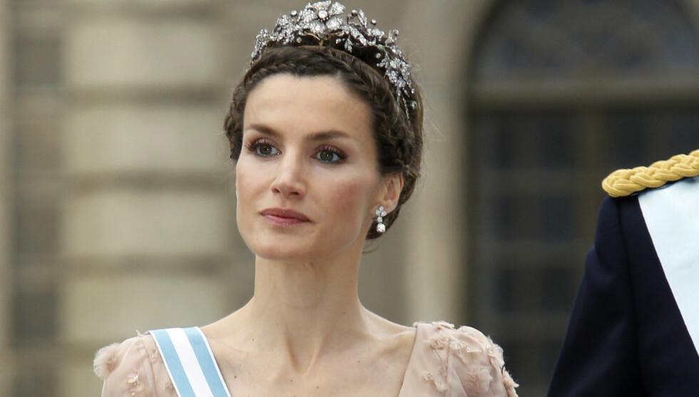 TAUS: Kronprinsesse Letizia har ikke kommentert nyheten om de private bryllupsbildene som nå er stjålet. Foto: Scanpix