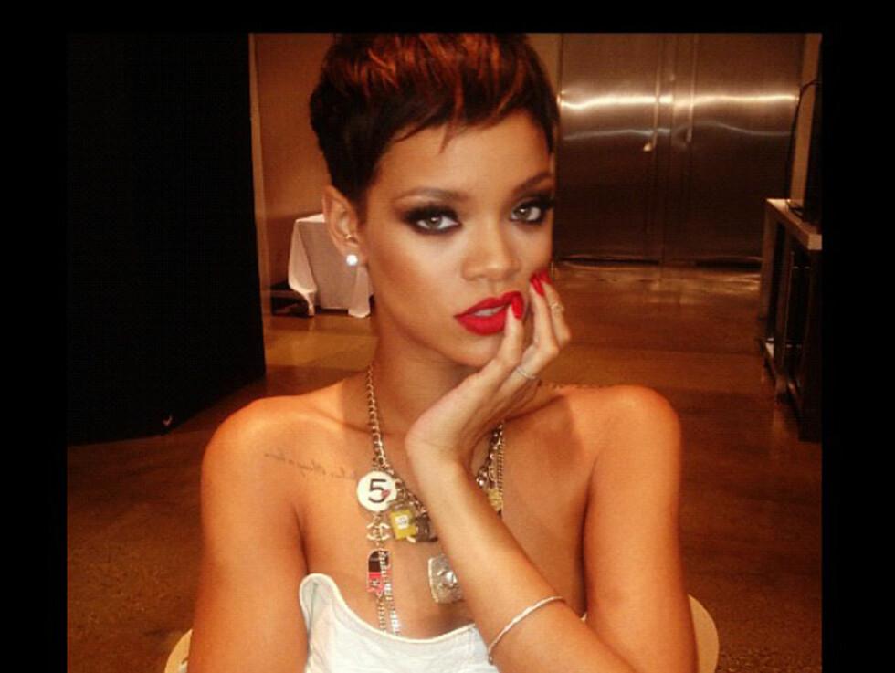 KORT: Rihanna har hatt utallige frisyrer, og har for tiden en kort variant. Foto: Stella Pictures
