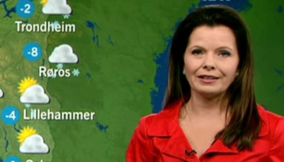 POPULÆR: Statsmeteorologen Bente Marie Wahl kom som et friskt pust inn i NRK i 2011. Hver kveld ser flere hundretusen nordmenn henne på TV. Foto: NRK