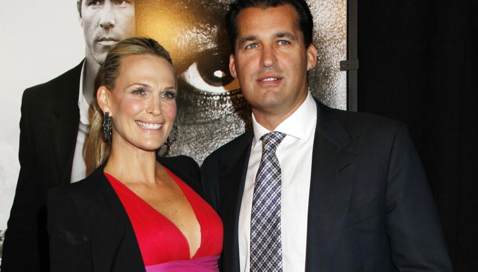 LYKKELIG GIFT: Molly og Scott Stuber giftet seg i 2011 og Sims ble gravid på bryllupsreisen. Nå er hun bare noen få kilo unna vekten hun hadde før hun ble gravid med lille Brooks, sier hun til Us Weekly. Foto: UPI
