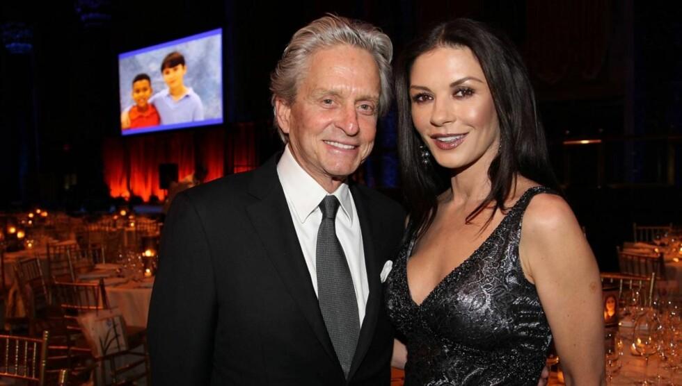 2012: Michael Douglas hevder kona aldri har vært vakrere. Foto: All Over Press