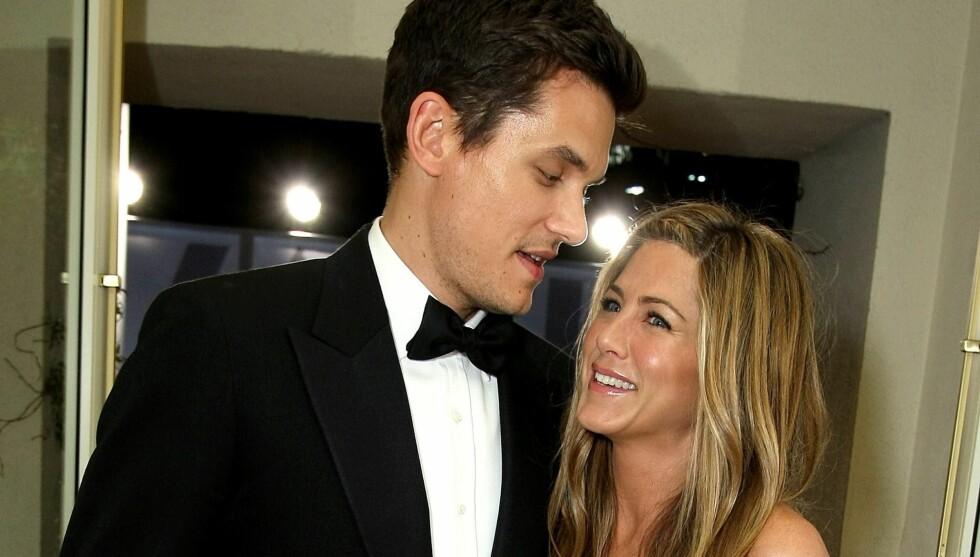 DRØMMEN BRAST: Jennifer Aniston jaktet drømmemannen i årevis, etter skilsmissen fra Brad Pitt i 2005. Tre år senere ble hun sammen med John Mayer, men lykken varte bare i ett år. Foto: All Over Press