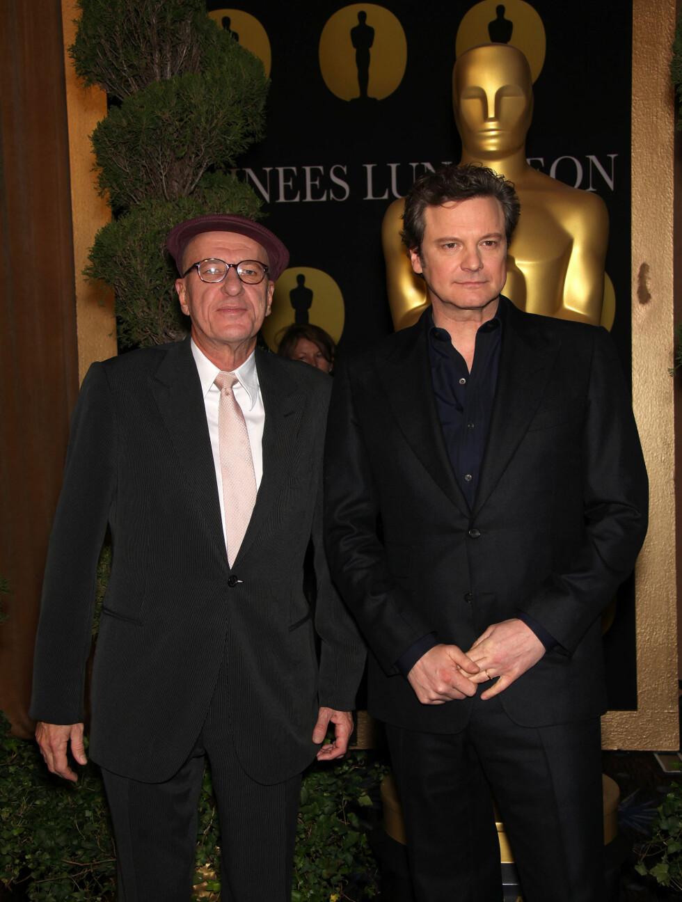 PÅ OSCAR-LUNSJ: Geofferey Rush og Colin Firth. Foto: Stella Pictures