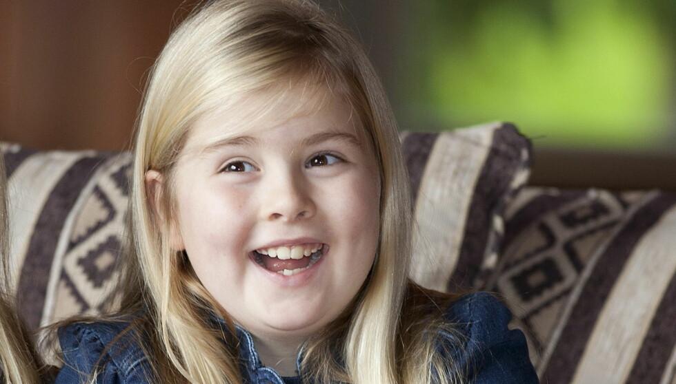 KRONPRINSESSEN: Catharina-Amalia fylte 9 år i desember. I april blir hun verdens yngste kronprinsesse!
