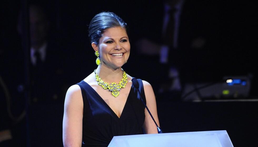 """OVERRASKET: Kronprinsesse Victoria delte overraskende ut prisen til """"Årets Homo"""" i Sverige. Foto: All Over Press"""