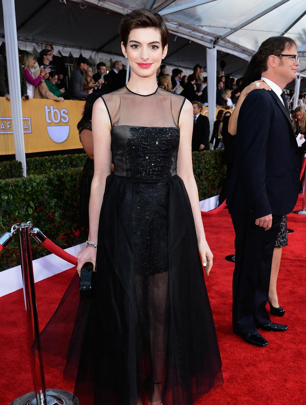 """SAG AWARDS: """"Les Miserables""""-stjernen Anne Hathaway. Foto: All Over Press"""