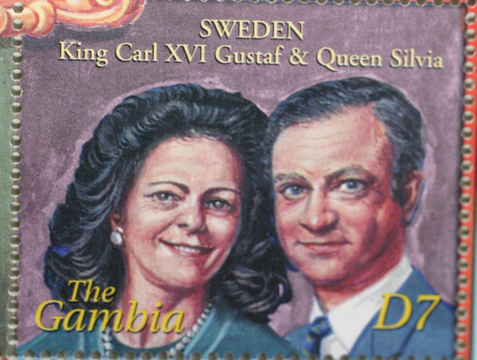 SVENSKEVITS: Slik er Sveriges kongepar kong Carl Gustaf og Dronning Silvia fremstilt.