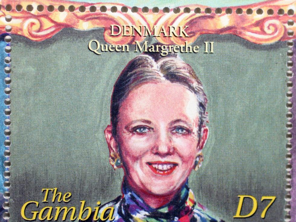 POPULÆR DRONNING: Slik har kunstneren fremstilt Dronning Margrethe av Danmark.
