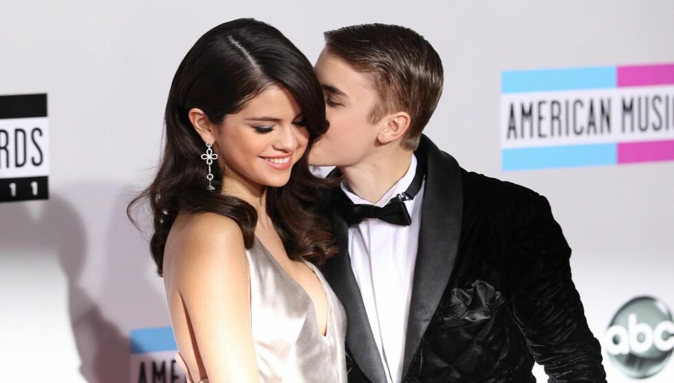 LYKKELIGE TIDER: Selena og Justin var kjærester i drøyt to år, før forholdet tok slutt i november i fjor.  Foto: All Over Press