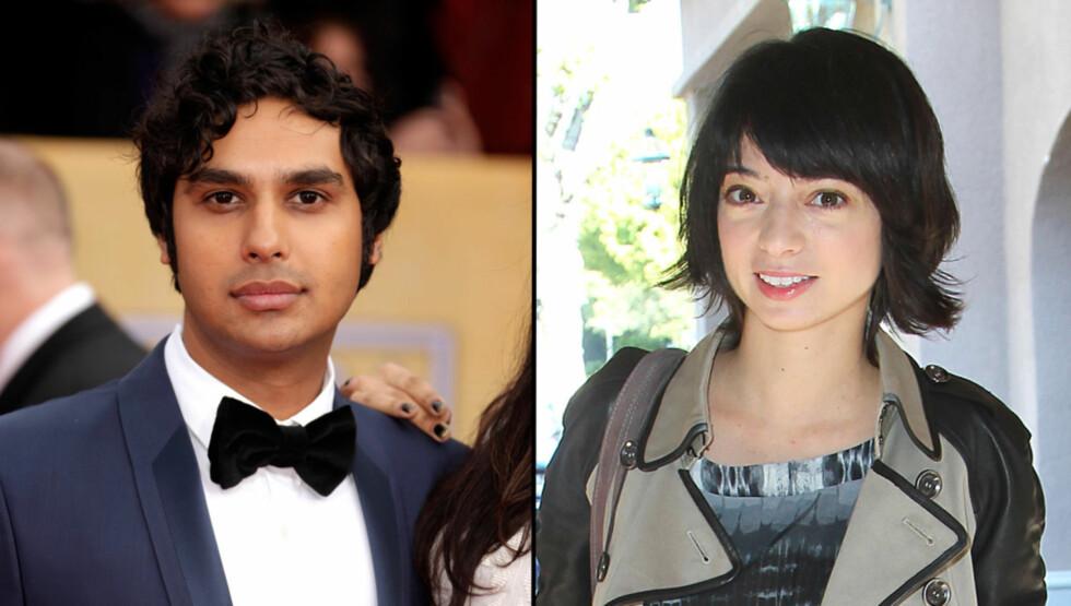 POTENSIELL KJÆRESTE: Blir Raj sammen med Kate Micuccis rollefigur Lucy i den pågående sesongen av «The Big Bang Theory»? Foto: All Over Press