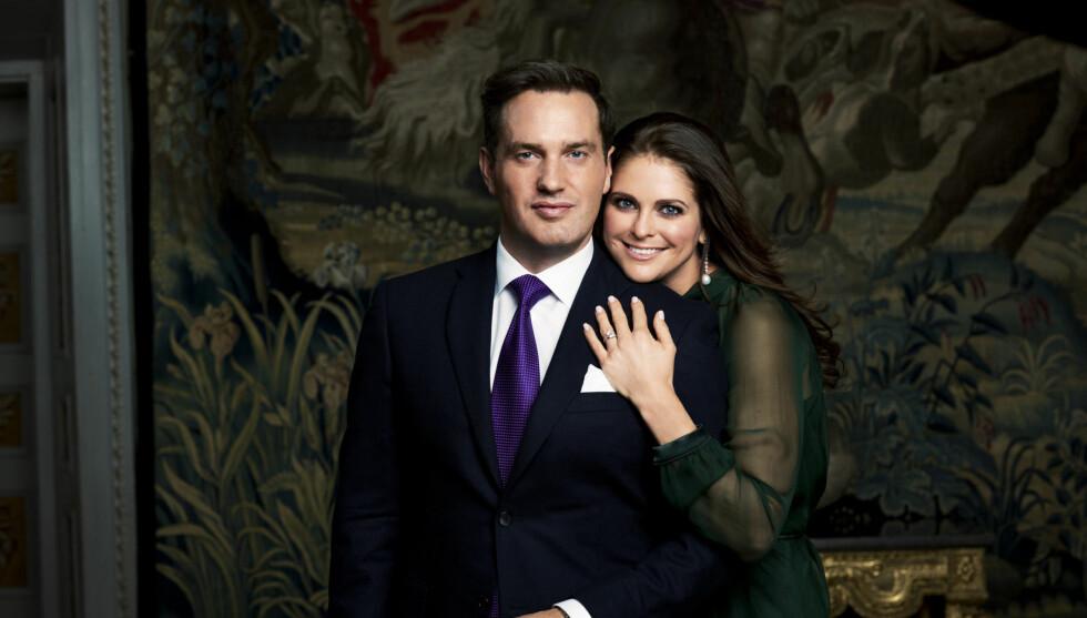 PRIVAT PAR: Prinsesse Madeleine og hennes Chris O'Neill vil ha et så privat bryllup som mulig, og det er ennå uvisst om vielsen skal sendes på TV. Foto: FameFlynet Sweden