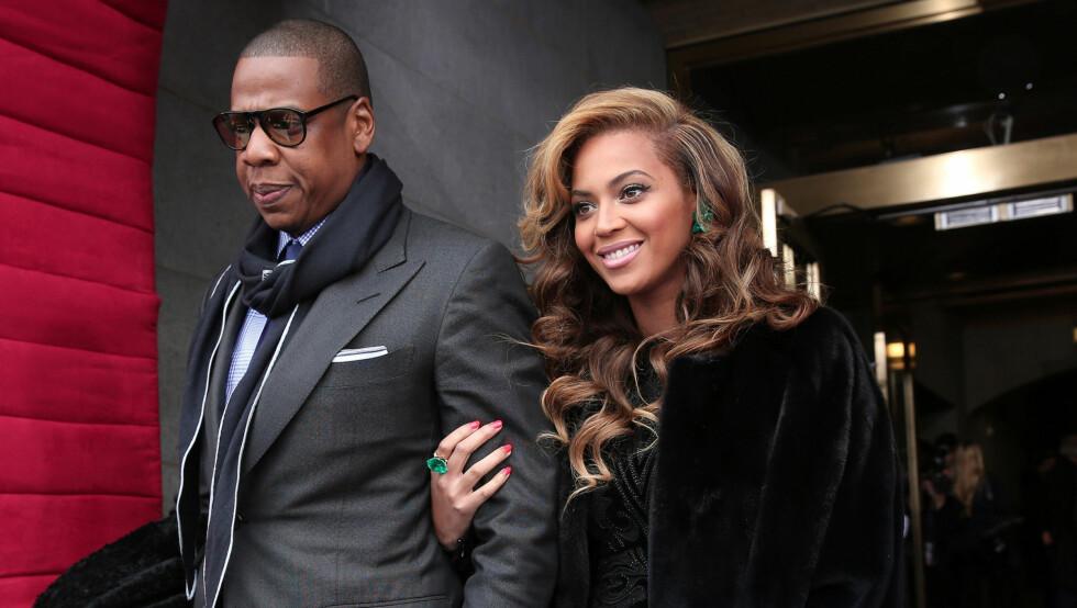 FORELDRE: Jay-Z og Beyoncé ble foreldre til lille Blue Ivy 7. januar i fjor. Et års tid før det opplevde paret å miste deres ufødte barn. Foto: Stella Pictures