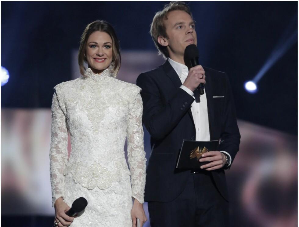 MELODI GRAND PRIX LARVIK: Jenny Skavlan og Erik Solbakken. Foto: Espen Solli, Se og Hør