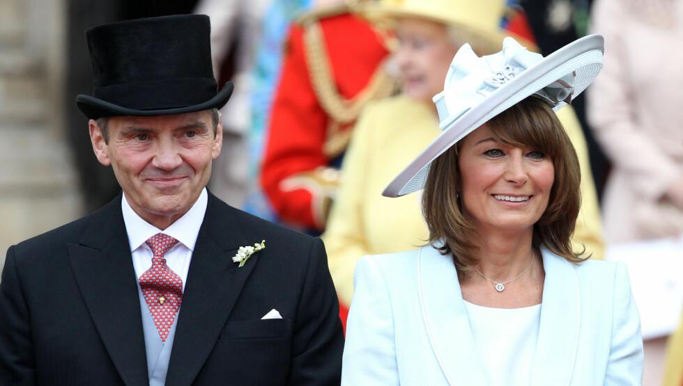 FÅR TITTEL: Michael og Carole Middleton blir trolig jarl og grevinne før Kate nedkommer med tronarvingen. Foto: All Over Press