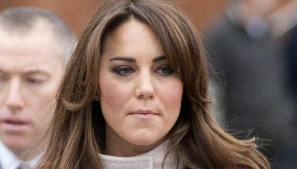 SYK: Hertuginne Kate lider av hyperemesis gravidarum, en type svangerskapskvalme som bare rammer 0,5-2 prosent av alle gravide.  Foto: All Over Press
