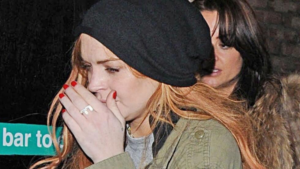 PENGEPROBLEMER: Lindsay Lohan sliter med økonomien og skal ifølge amerikanske medier ha jobbet som luksusprostituert for å tjene penger.  Foto: FameFlynet