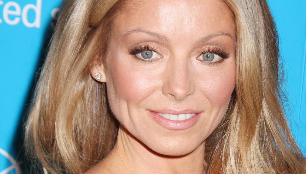 STRAM I MASKA: Kelly Ripa er åpen om at hun bruker botox for å holde på ungdommen. Foto: FAME FLYNET