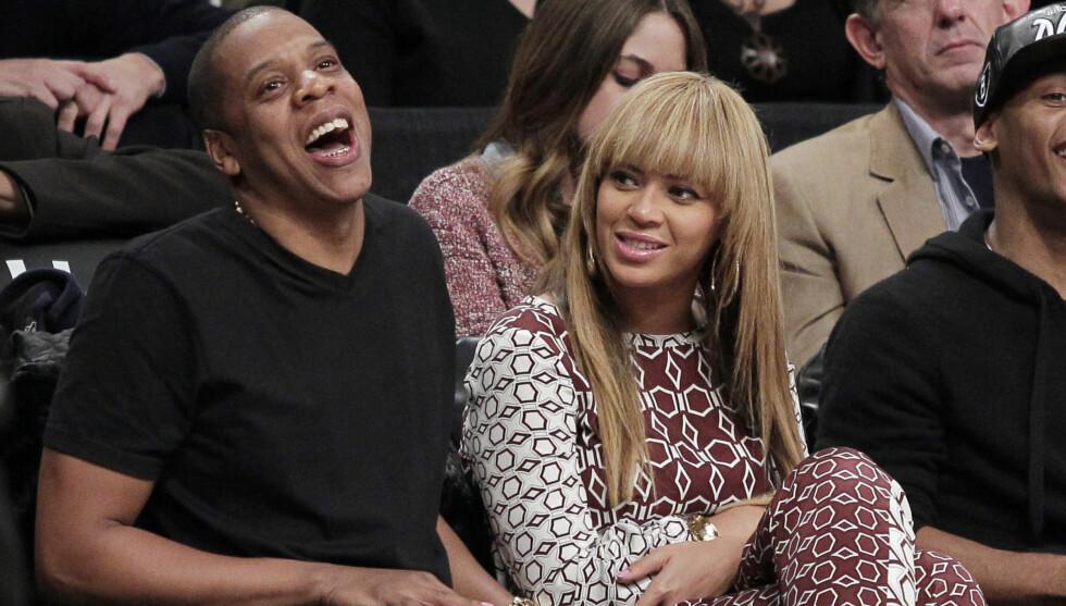 SKJEMMER BORT DATTEREN: Beyonce og ektemannen Jay-Z brukte over 700.000 kroner på datterens bursdagsfest. Foto: UPI