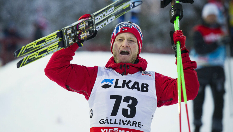 GULLMANN: Langrennsløper Martin Johnsrud Sundby jublet etter NM-seieren på Hamar. Dette bildet er tatt ved en tidligere anledning.  Foto: Reuters