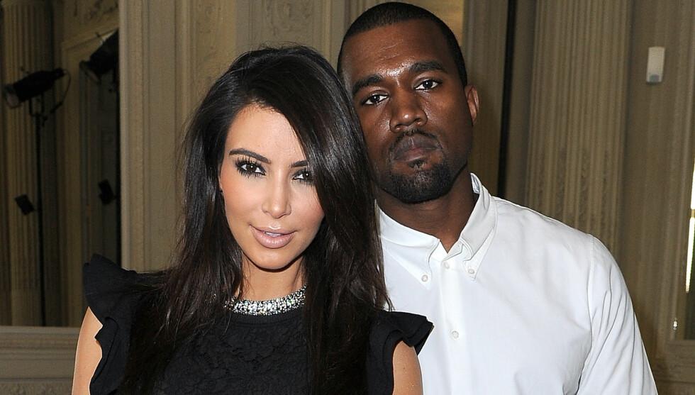 PLANLEGGER RINGSEREMONI: Kim Kardashian og Kanye West vil bytte ringer i en privat seremoni foran familie og nære venner, i påvente av at skillsmissen mellom Kim og hennes forrige ektemann skal bli fullført. Foto: All Over Press