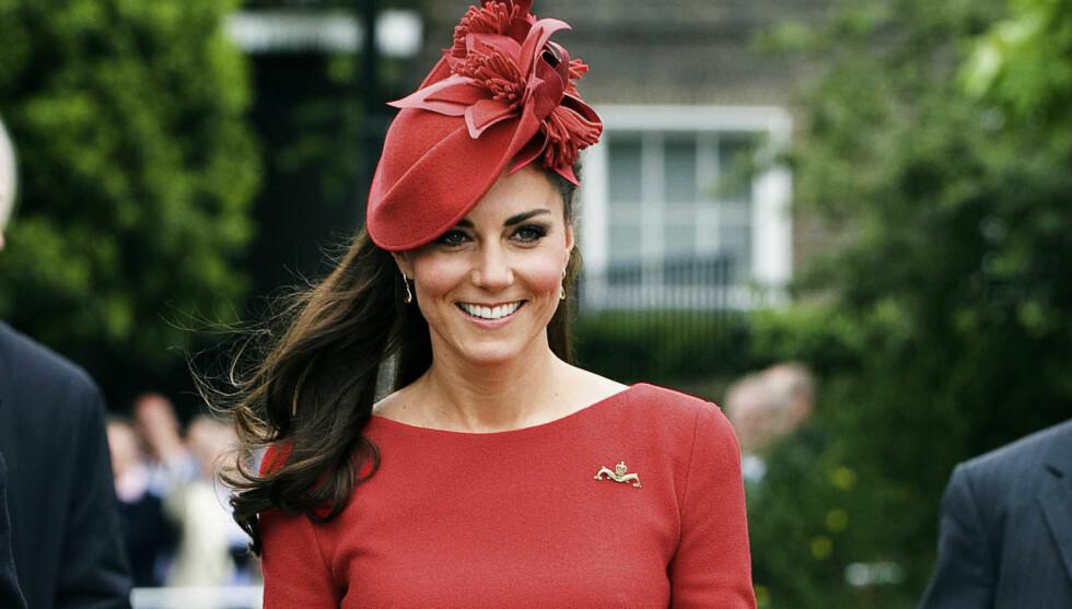 LYKKELIG: I en pressemelding går det frem at hertuginnen er lykkelig over å bekrefte terminen. Foto: All Over Press