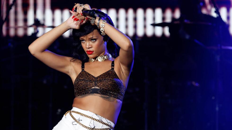 SKJELTE UT FAN: Rihanna ble rasende da en kvinne sammenlignet henne med Whitney Houston. Foto: All Over Press