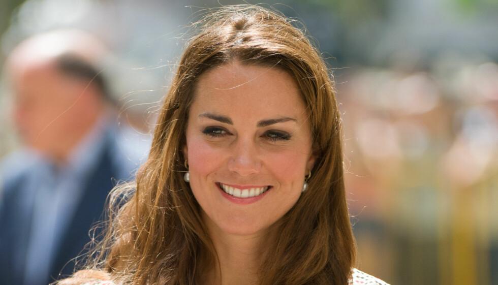 GLEDESTÅRER: Kate reagerte med gledestårer da hun fikk vite at hun var gravid. Foto: FameFlyNet
