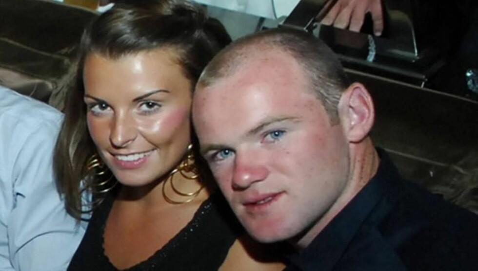I SORG: Coleen er gift med United-stjernen Wanye Rooney. Paret er knust over bortgangen til lille Rosie. Foto: All Over Press