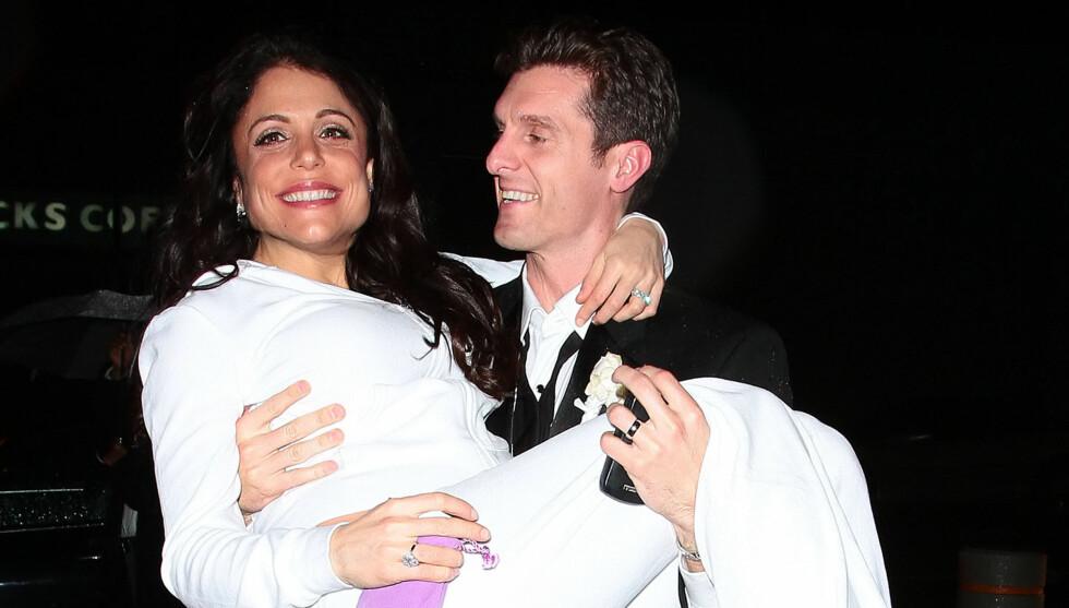 LYKKEN BRAST: For knappe tre år siden giftet  «The Real Housewives of New York City»-stjernen  Bethenny Frankel seg med Jason Hoppy. Før jul ble de separert, og nå har hun begynt skilsmisseprosessen. Foto: All Over Press
