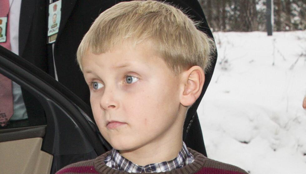 7 ÅR: Prins Sverre Magnus er blitt en stram ung mann, som ligner på sin far. Foto: Andreas Fadum