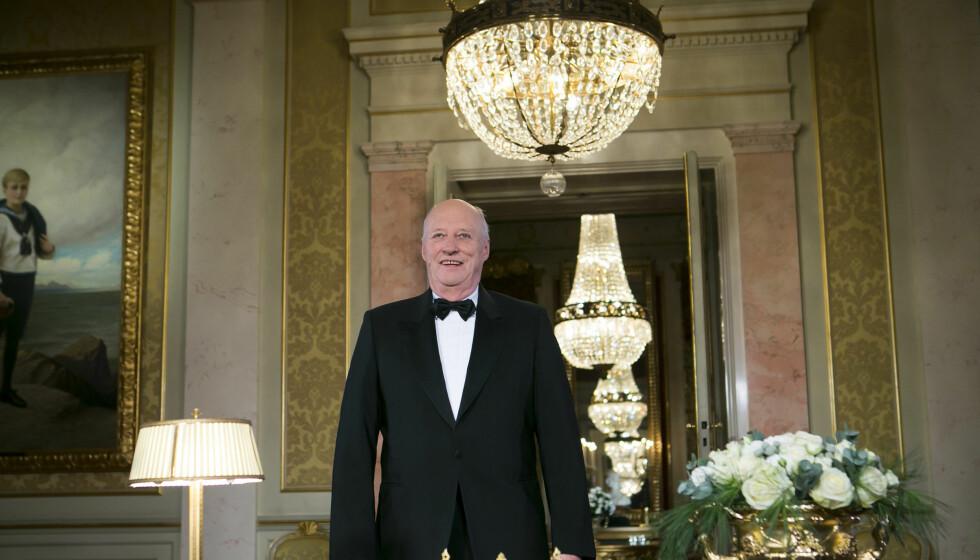 POPULÆRT: Kong Harald holder sin årlige nyttårstale på Slottet.  Foto: NTB scanpix