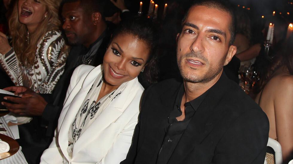 FORLOVET: Janet Jackson skal gifte seg med milliardær-kjæresten Wissam Al Mana. Paret planlegger nå et overdådig bryllup i Qatar til våren.  Foto: Fame Flynet