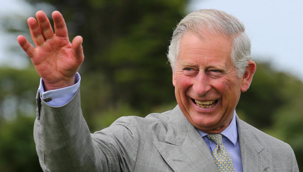 LYKKELIG: Prins Charles har ventet lenge. I en alder av 64 år blir han endelig bestefar. Foto: All Over Press