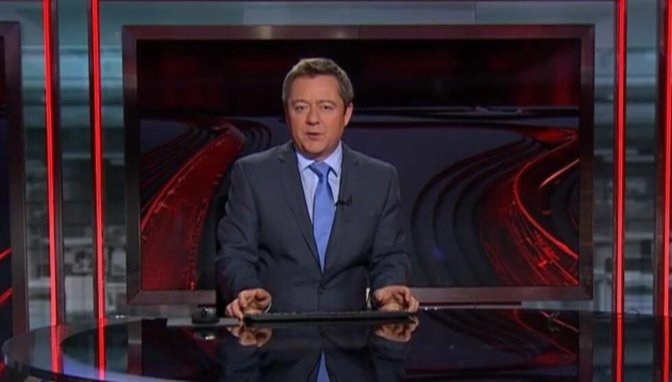 TABBE: Det var under hovedsendingen 3.juledag at den erfarne nyhetsankeren Morten Sandøy presterte å introdusere titterne for 29-nyhetene... Foto: TV 2 Sumo