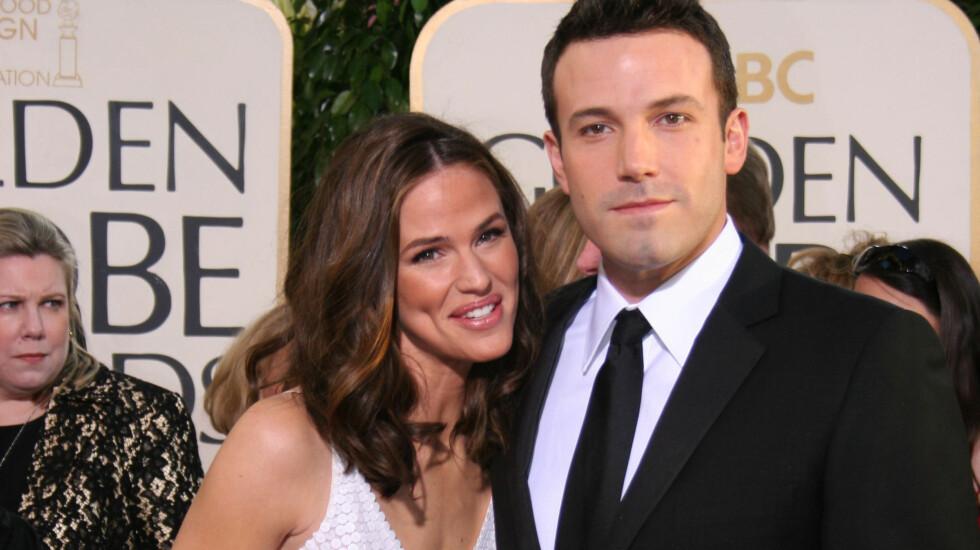 LYKKELIG PAR: Ben Affleck og Jennifer Garner traff hverandre på settet til filmen Daredevil i 2003 og giftet seg to år senere. Foto: FAME FLYNET