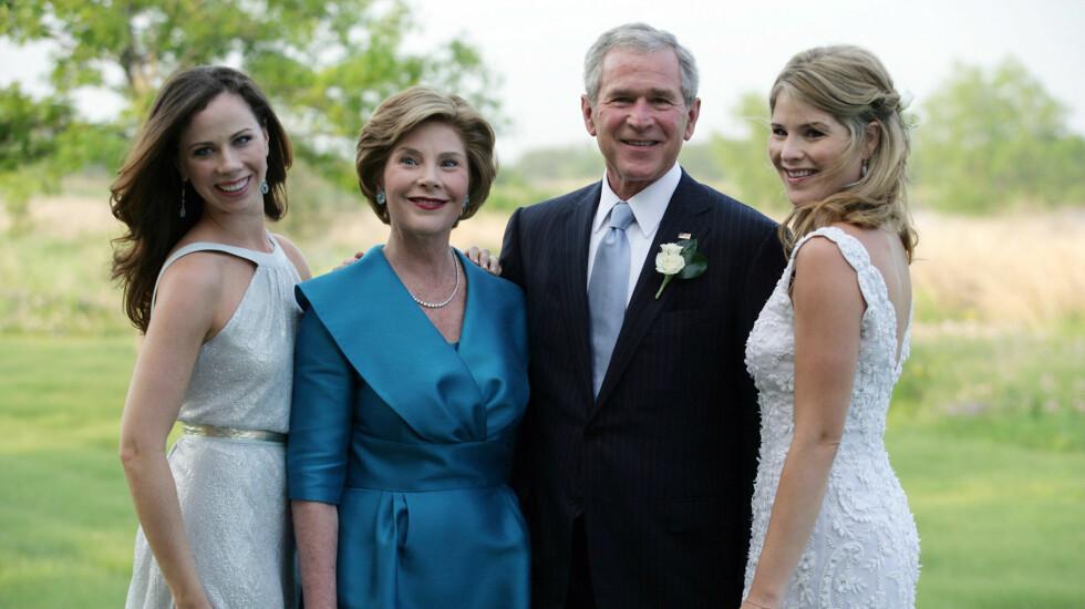 FAMILIEBILDE: Hele familien samlet da Jenna giftet seg for fire år siden.  Foto: All Over Press