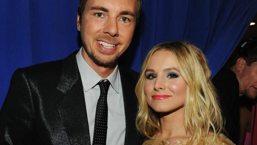 BLIR FORELDRE: Dax og Kristen venter deres første barn, og blir født våren 2013. Foto: All Over Press