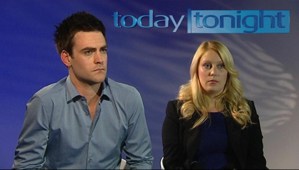 MISTER JOBBEN: Den australske radioduoen Michael Christian og Mel Greig mister jobben etter telefonspøken som førte til at hertuginne Kates sykepleier tok sitt eget liv. Foto: All Over Press