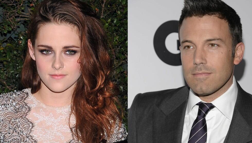 NYTT FILMPAR: Kristen Stewart og Ben Affleck blir å se på lerretet sammen til neste år. Foto: FameFlynet