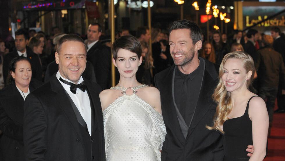 AKTUELLE PÅ LERRETET: I «Les Miserables» spiller Amanda mot store navn som Russell Crowe, Anne Hathaway og Hugh Jackman. Foto: Fame Flynet