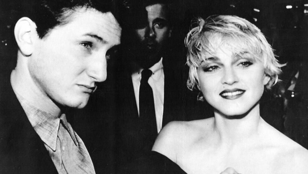HOTTE: Sean Penn og Madonna var 80-tallets hotteste stjernepar. De var gift fra 1986 til 1989. Foto: Stella Pictures