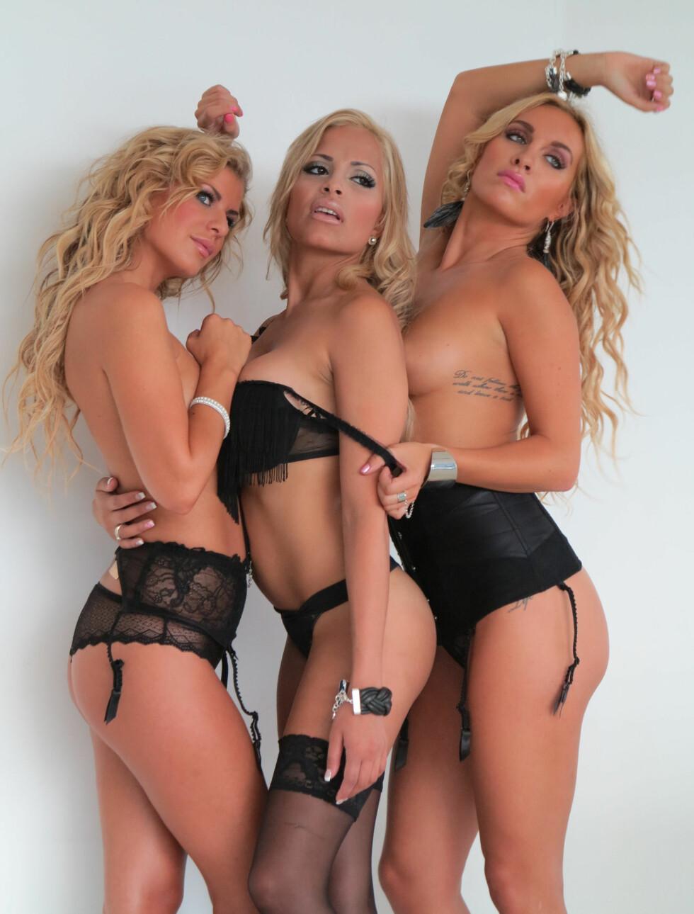 DEN LILLE SORTE: Mari, Linni og Carina fra TV 2 Bliss-serien «Tigerstaden». Foto: TV 2 Bliss